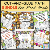 First Grade Math Worksheets Fall and More BUNDLE | Christmas Math Worksheets