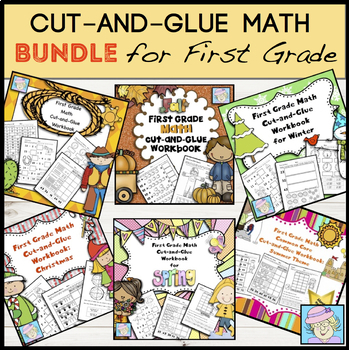 First Grade Math Common Core Workbooks for All Year COMBO Pack