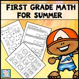 First Grade Math Review Packet Summer End of the Year Activities