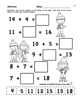 winter math worksheets first grade first grade math worksheets for winter. Black Bedroom Furniture Sets. Home Design Ideas