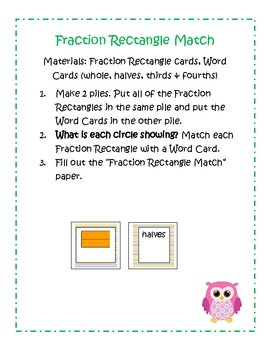 First Grade Math Common Core Fractions 1.G3