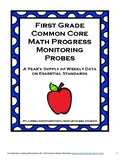 First Grade Math Common Core Progress Monitoring Assessment Pack