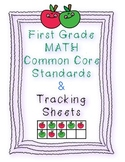 First Grade Math Common Core Standards and Checklists