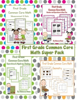 First Grade Math {Common Core Super Pack}