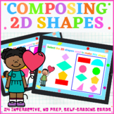 First Grade Math Composing 2D Shapes Boom Cards