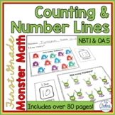 First Grade Math Number Sense Counting & Number Lines  1.OA.5 1.NBT.1