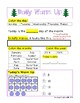 First Grade Math Daily Warm Up for December
