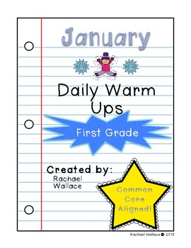 First Grade Math Daily Warm Up for January