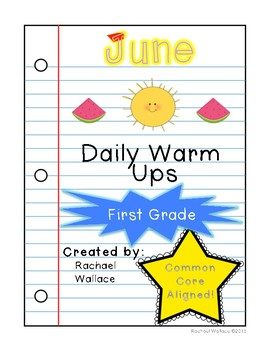 First Grade Math Daily Warm Ups for June