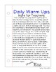 First Grade Math Daily Warm Ups for April