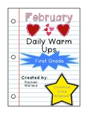 First Grade Math Daily Warm Ups for February