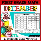 December Math Worksheets - First Grade