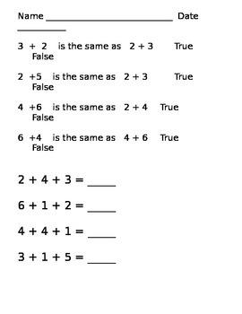 First Grade Math EOY practice