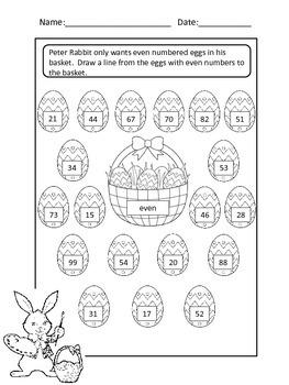 First Grade Math Easter Pack