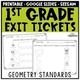 First Grade Math Exit Slips Geometry