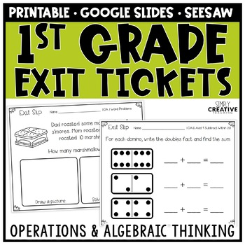 First Grade Math Exit Slips Operations & Algebraic Thinking