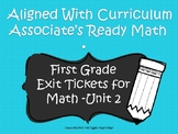 First Grade Math Exit Tickets (Aligned with Unit 2 of Ready Math)