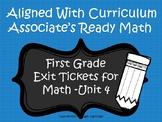 First Grade Math Exit Tickets (Aligned with Unit 4 of Ready Math)