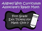 First Grade Math Exit Tickets (Aligned with Unit 7 of Ready Math)