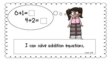 First Grade Math Expressions Common Core Learning Targets (**GROWING**)