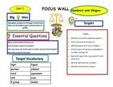 First Grade Math Expressions Focus Walls