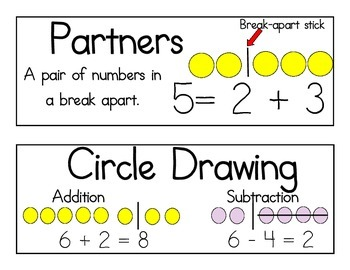 Math Expressions Vocabulary- Units 1-8 First Grade