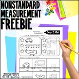First Grade Math FREEBIE: Nonstandard Measurement Worksheet