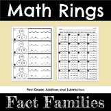 First Grade Math Fact Families