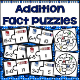 First Grade Math First Day Fact Fluency & Related Facts Puzzles