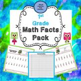 First Grade Math Facts Pack