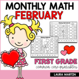 February Math Worksheets | First Grade