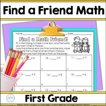 First Grade Math Find a Friend