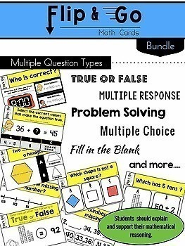 1st Grade Math Task Cards | Varied Question Types