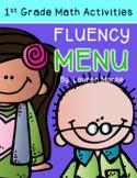 First Grade Math Fluency Menu: Composing/Decomposing Numbers 5-10