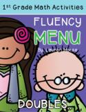 First Grade Math Fluency Menu: Composing/Decomposing Doubles