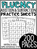 First Grade Math Fluency Sheets