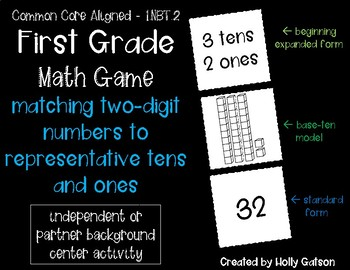 Matching 2-Digit Numbers in 3 Math Forms - Math Game