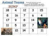 First Grade Math Game - Animal Teams Bump - Three Addend Addition