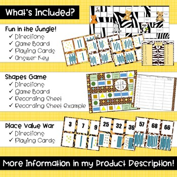 First Grade Math Games GROWING BUNDLE!
