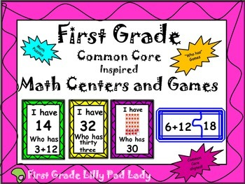 First Grade Math Centers and Games