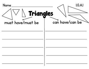 First Grade Math {Geometry}