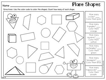 First Grade Math: Geometry -  2015 Version