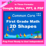 First Grade Math Geometry 2D Shapes Google Slides and PDF