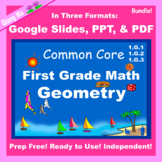 First Grade Math Geometry Bundle Google Slides and PDF for