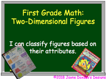 First Grade Math Geometry Using 2-Dimensional Figures