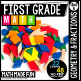 First Grade Math: Geometry and Fractions