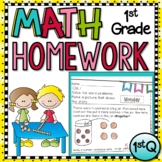 First Grade Math Homework with Digital Option for Distance