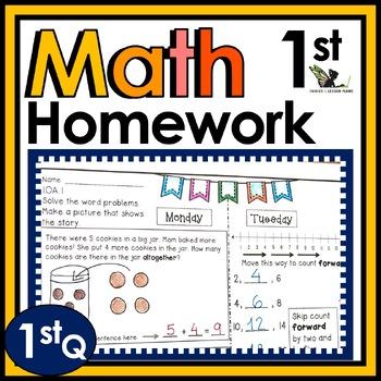 First Grade Math Homework - 1st Quarter
