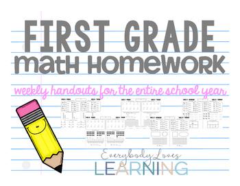 First Grade Math Homework