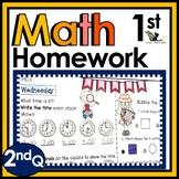 First Grade Math Homework - 2nd Quarter
